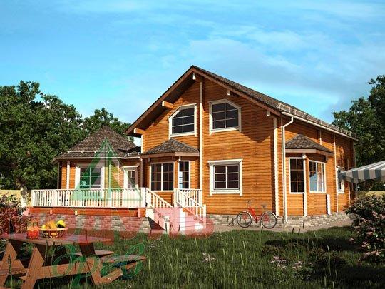 Проект дома из бруса «Глория»