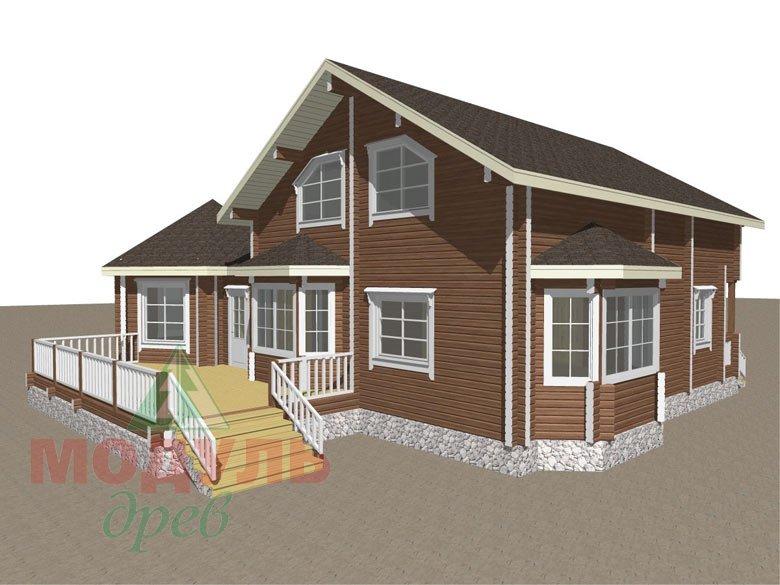 Дом из бруса «Глория» - макет 2