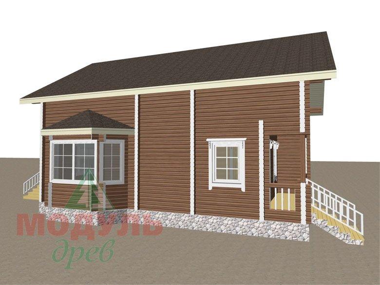 Дом из бруса «Глория» - макет 4