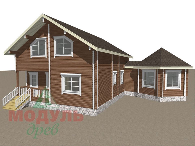 Дом из бруса «Глория» - макет 6