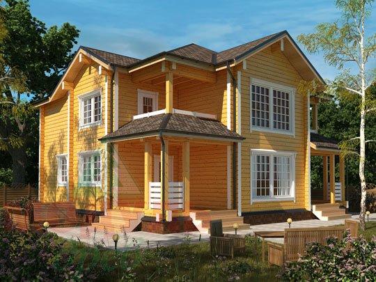 Проект дома из бруса «Голубино»