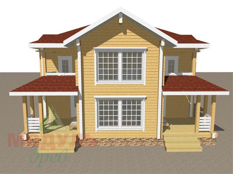 Проект дома из бруса «Голубино» - макет 1
