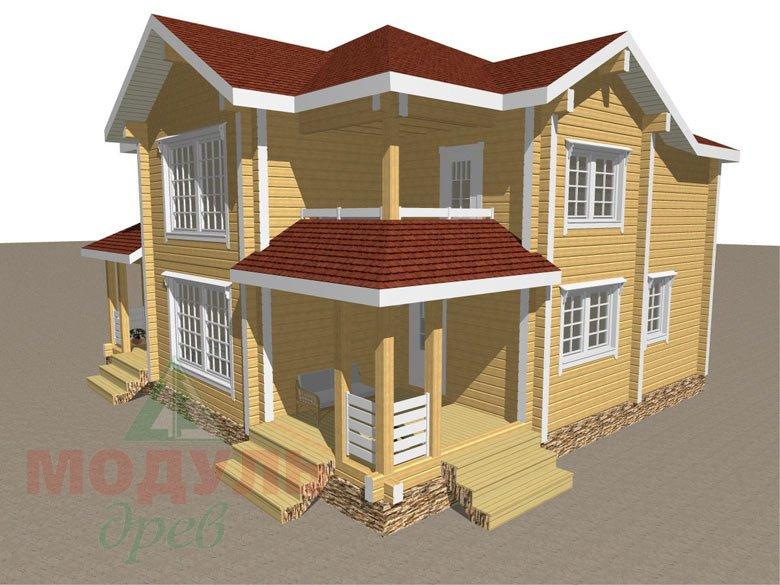Дом из бруса «Голубино» - макет 2