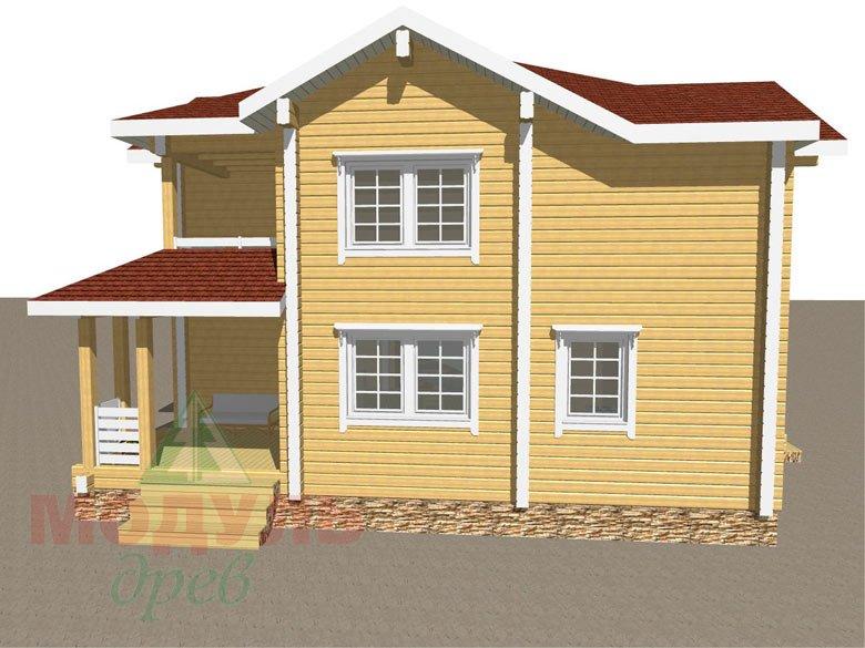 Дом из бруса «Голубино» - макет 3