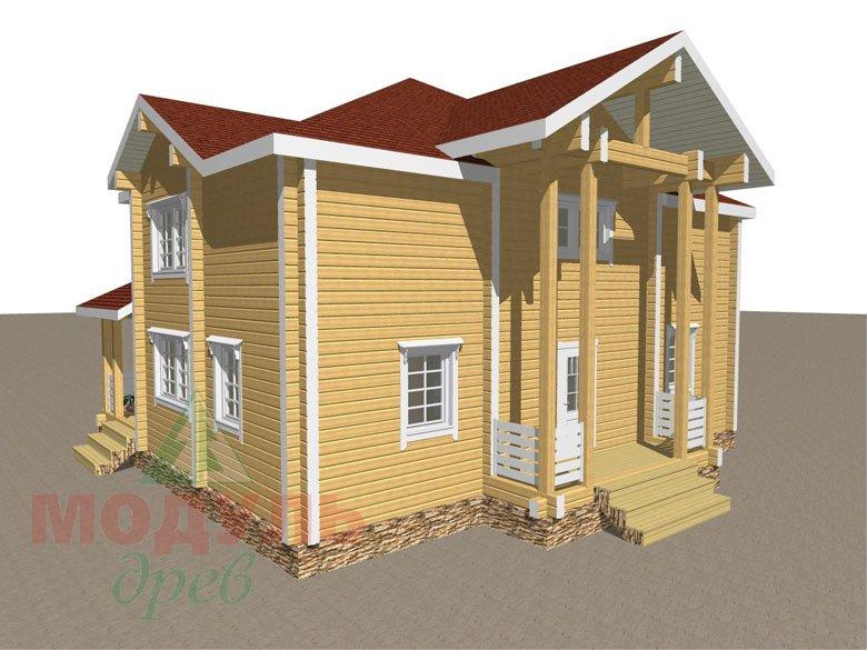 Дом из бруса «Голубино» - макет 4