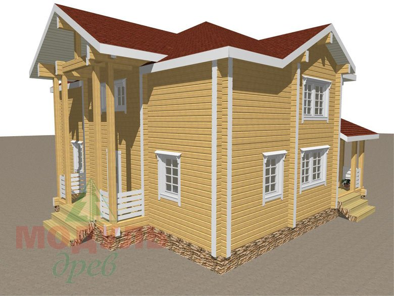 Дом из бруса «Голубино» - макет 6
