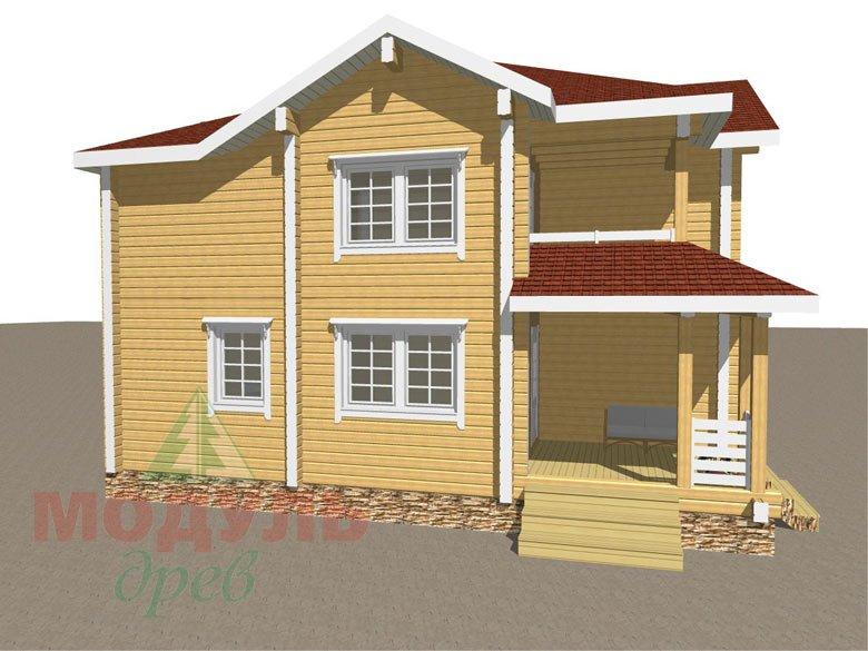 Дом из бруса «Голубино» - макет 7
