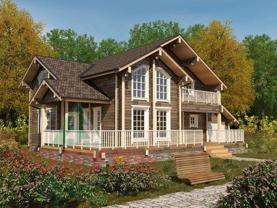 Проект дома из бруса «Ижевск»