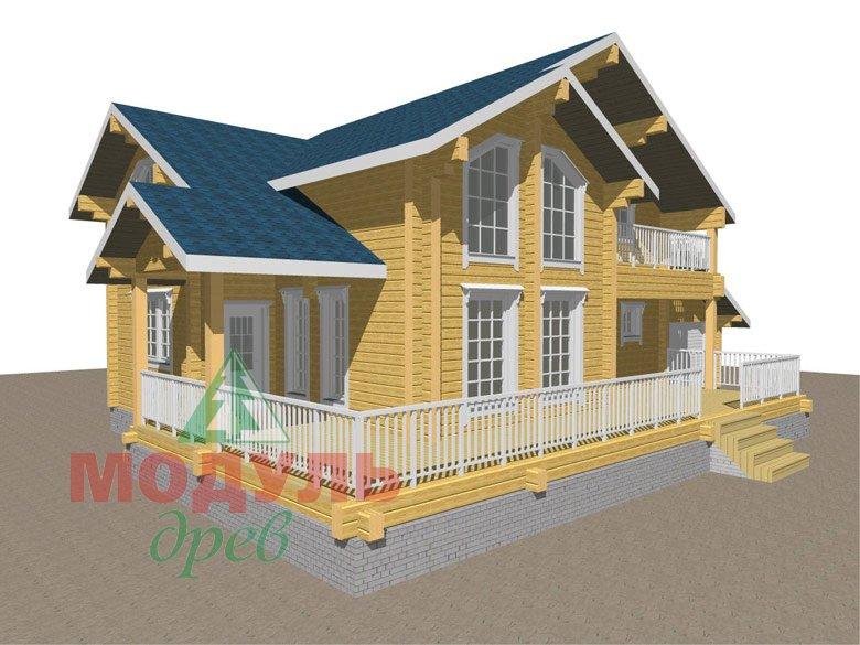 Проект дома из бруса «Ижевск» - макет 1