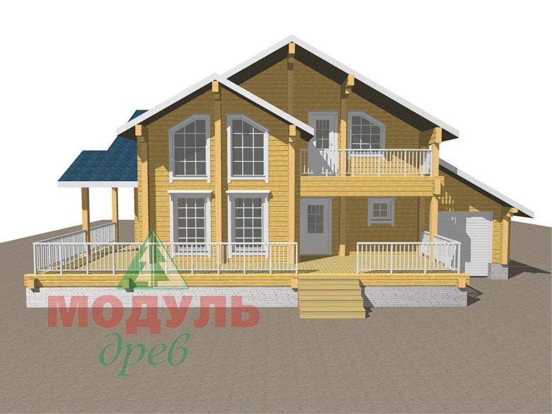 Дом из бруса «Ижевск» - макет 2