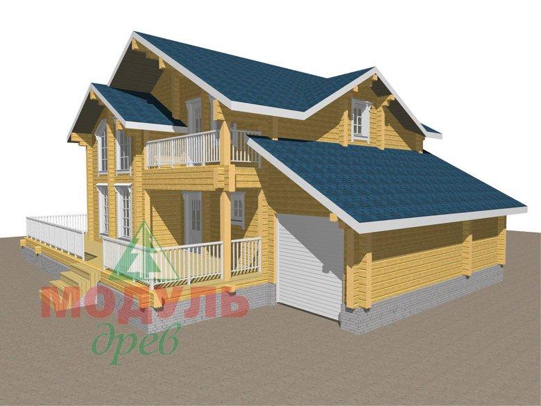 Дом из бруса «Ижевск» - макет 3
