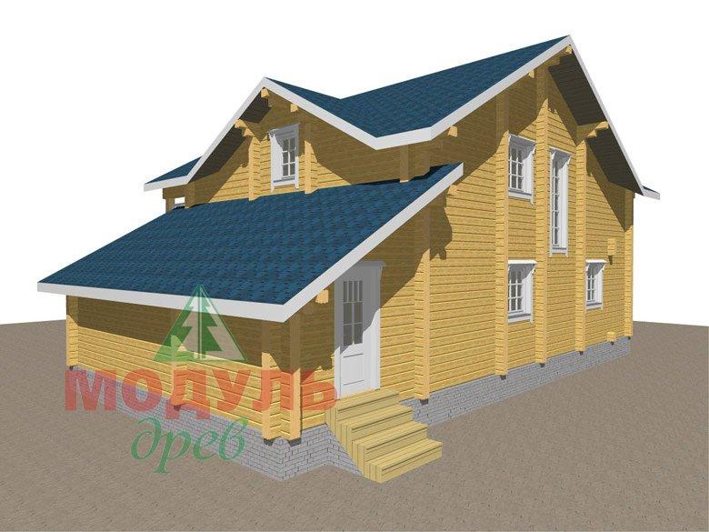 Дом из бруса «Ижевск» - макет 4