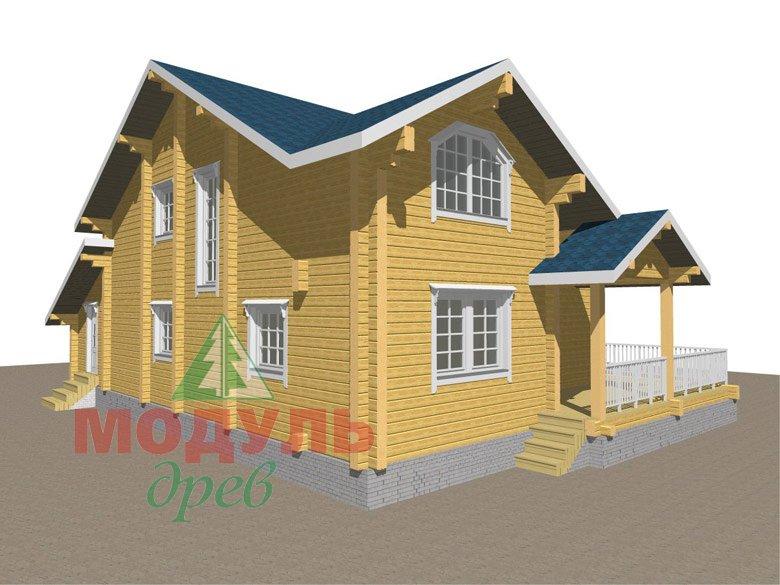 Дом из бруса «Ижевск» - макет 6