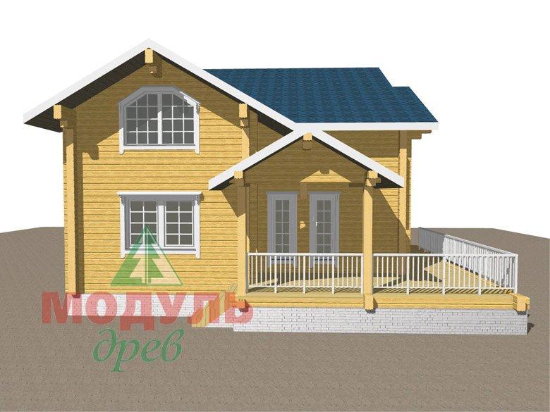 Дом из бруса «Ижевск» - макет 7