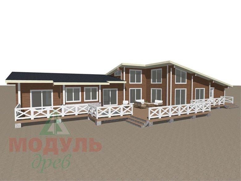 Проект одноэтажного дома из бруса «Канск» - макет 1
