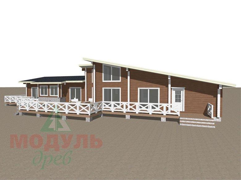 Проект одноэтажного дома из бруса «Канск» - макет 2