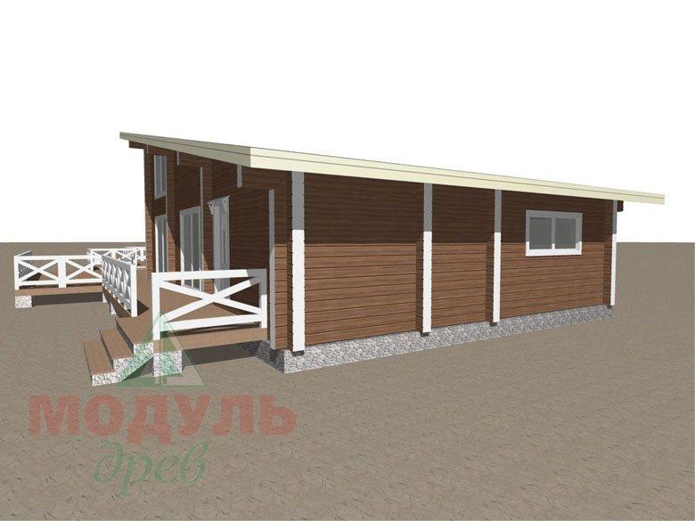 Проект одноэтажного дома из бруса «Канск» - макет 3