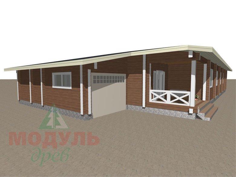 Проект одноэтажного дома из бруса «Канск» - макет 4