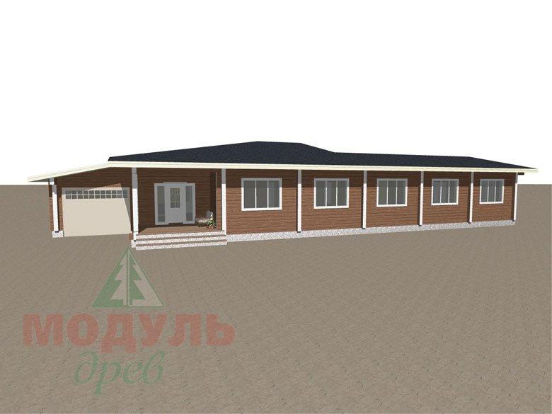 Проект одноэтажного дома из бруса «Канск» - макет 5