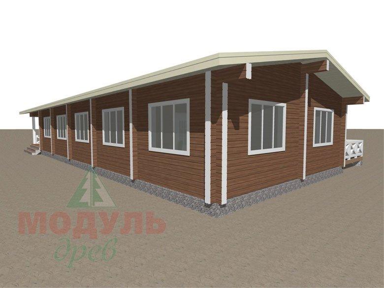 Проект одноэтажного дома из бруса «Канск» - макет 6