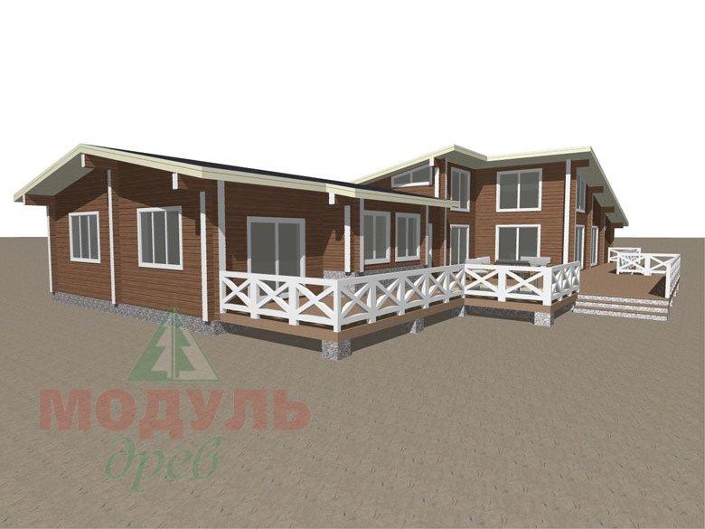 Проект одноэтажного дома из бруса «Канск» - макет 7
