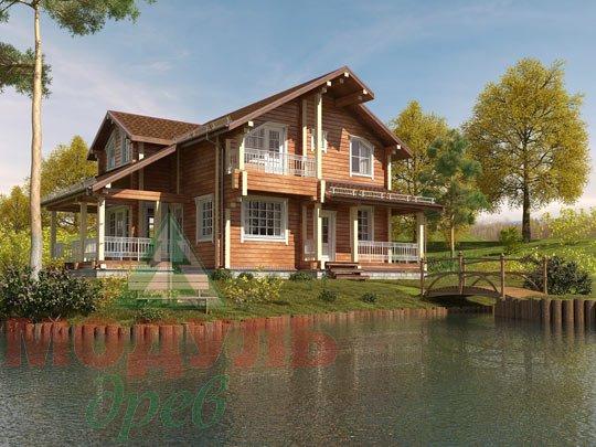 Проект дома из бруса «Киров»