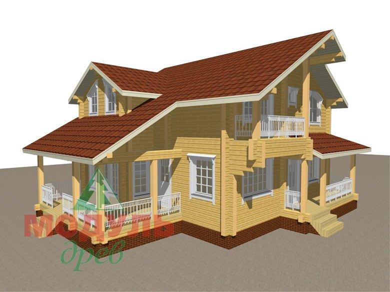 Проект дома из бруса «Киров» - макет 1