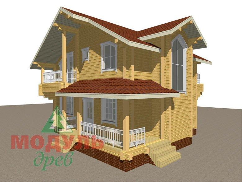 Дом из бруса «Киров» - макет 3