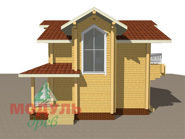 Дом из бруса «Киров» - макет 4