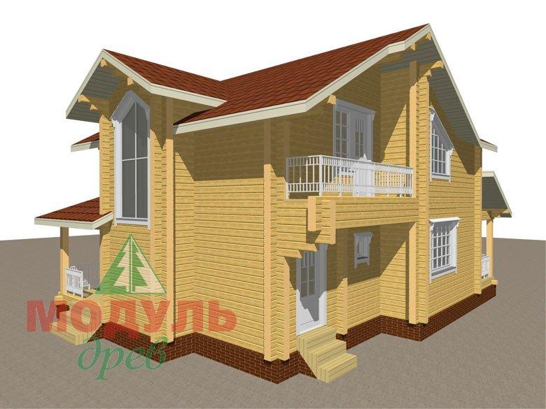 Дом из бруса «Киров» - макет 5