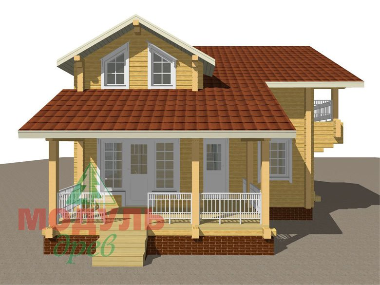 Дом из бруса «Киров» - макет 8