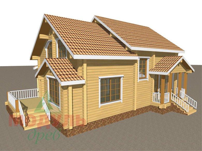 Проект дома из бруса «Климово» - макет 1