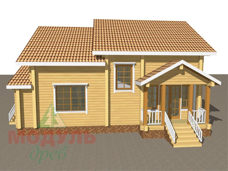 Дом из бруса «Климово» - макет 2