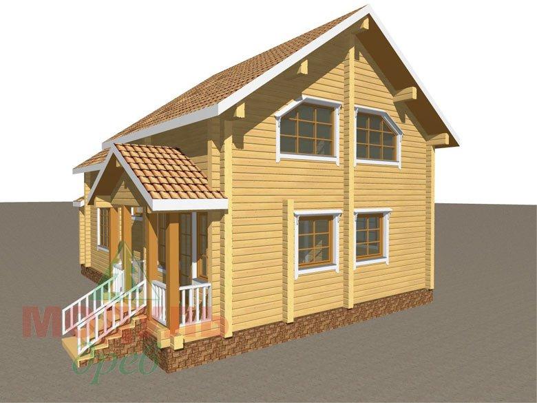 Дом из бруса «Климово» - макет 3