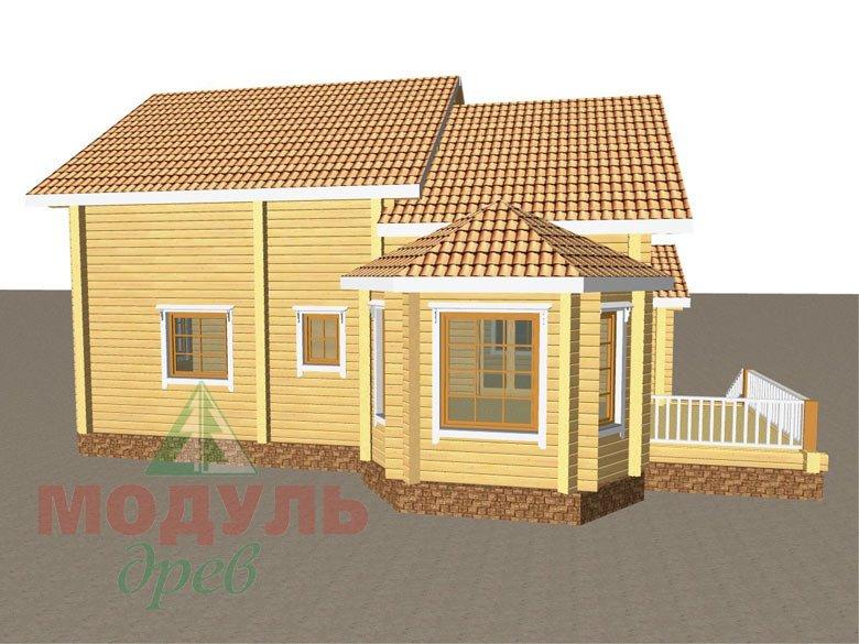 Дом из бруса «Климово» - макет 6