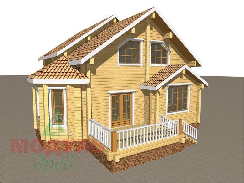 Дом из бруса «Климово» - макет 7