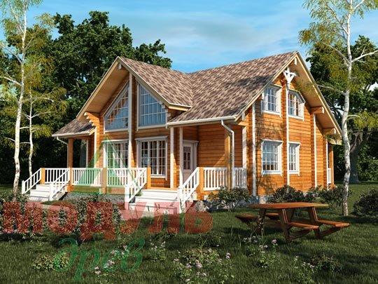 Проект дома из бруса «Косково»