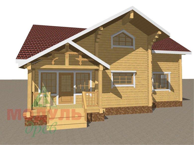 Проект дома из бруса «Косково» - макет 1