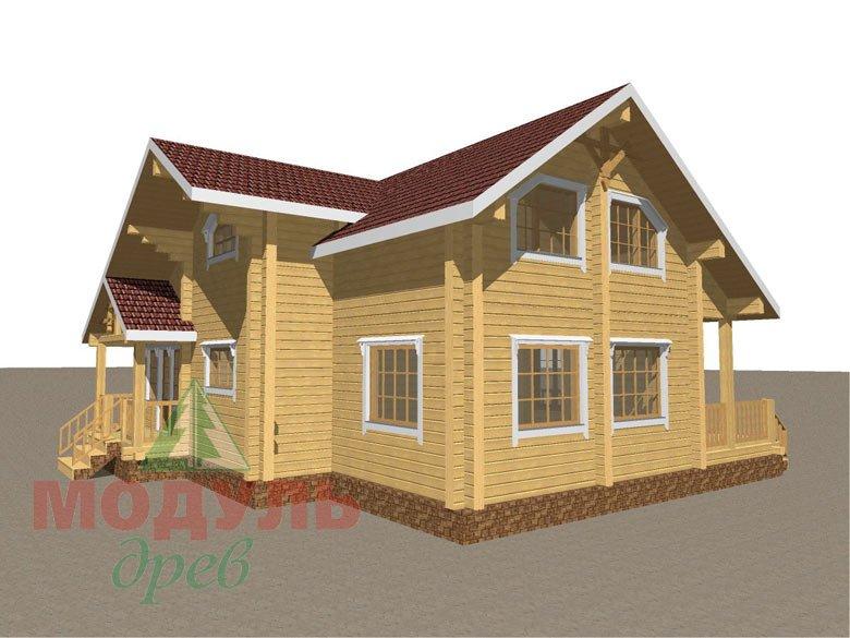 Дом из бруса «Косково» - макет 2