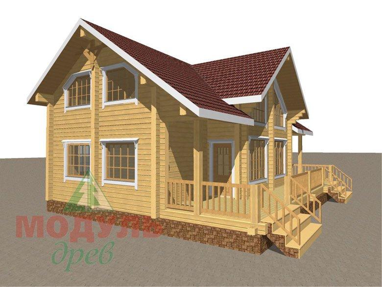 Дом из бруса «Косково» - макет 3