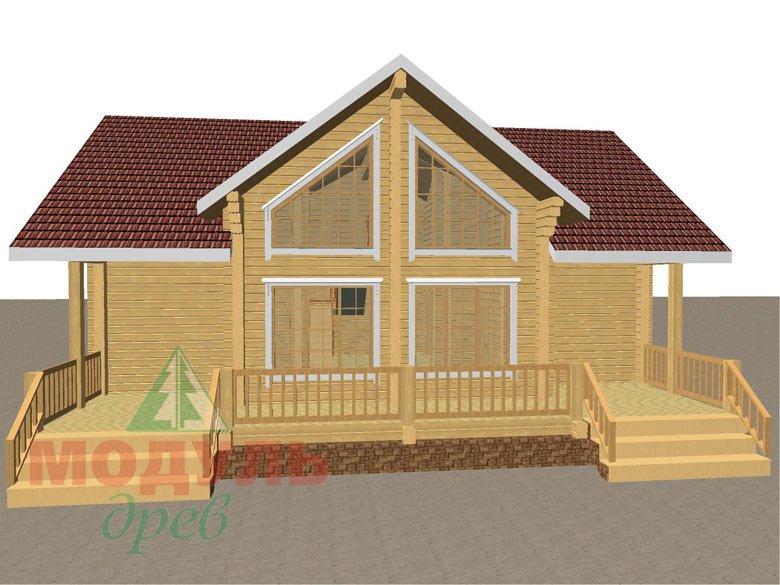 Дом из бруса «Косково» - макет 4