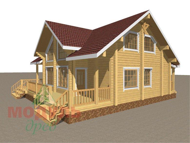 Дом из бруса «Косково» - макет 5