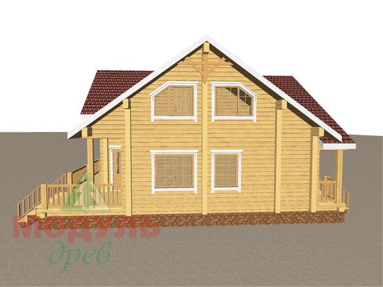 Дом из бруса «Косково» - макет 6