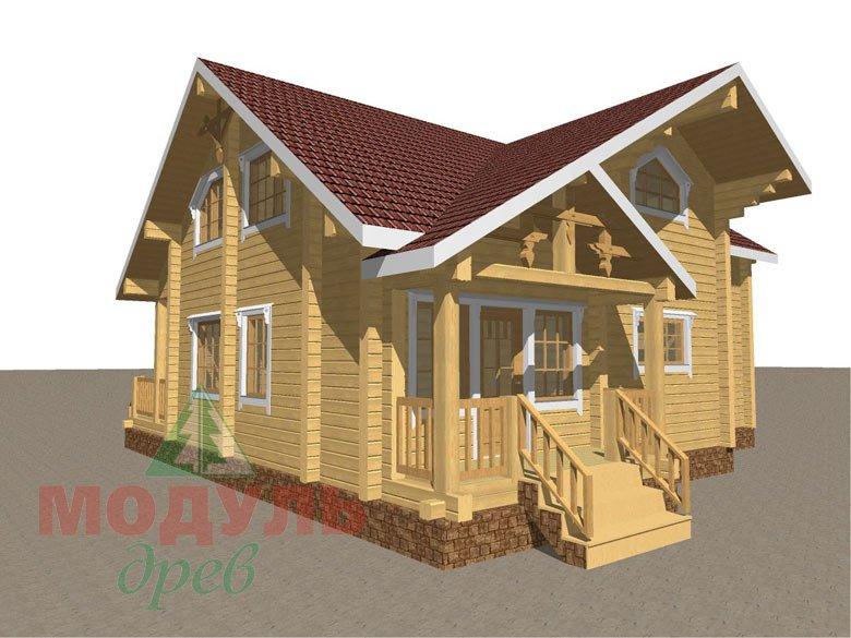 Дом из бруса «Косково» - макет 7