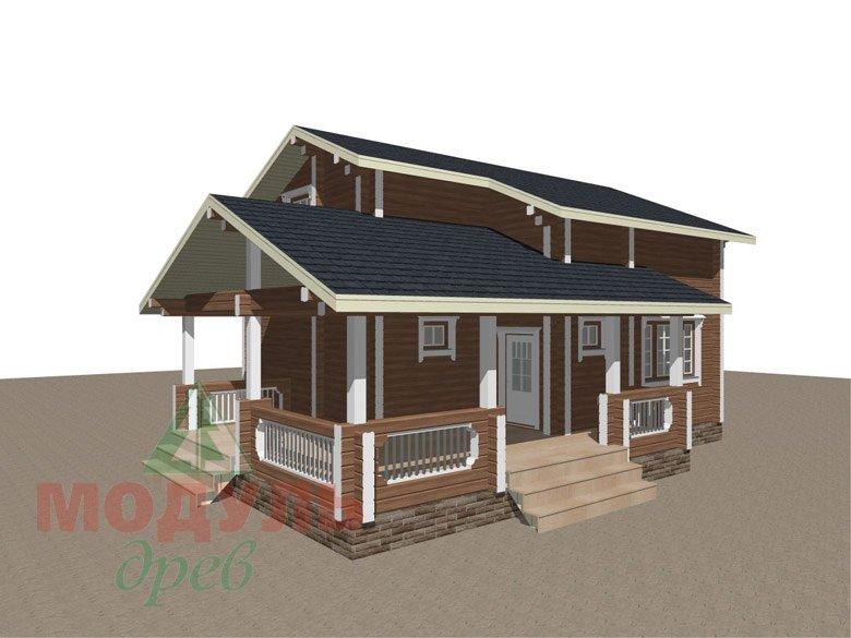 Брусовой дом «Ковров» - макет 1