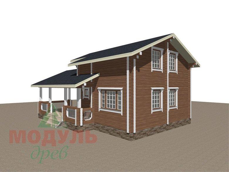 Брусовой дом «Ковров» - макет 3