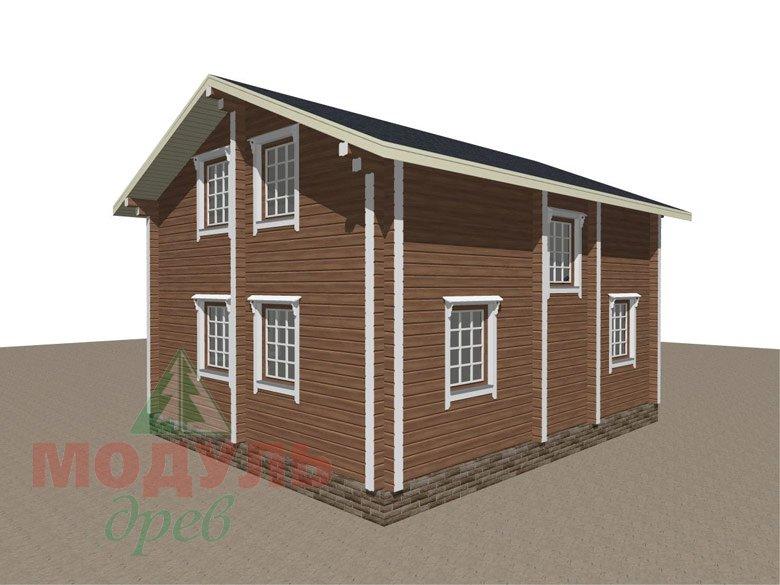 Брусовой дом «Ковров» - макет 5