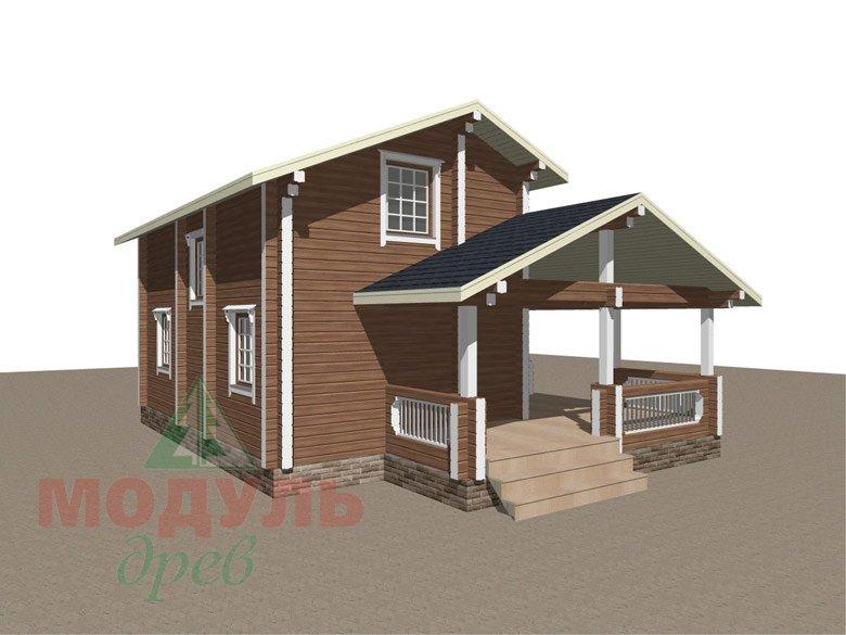 Брусовой дом «Ковров» - макет 7
