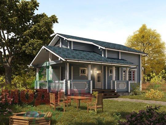 Проект брусового дома «Ковров»