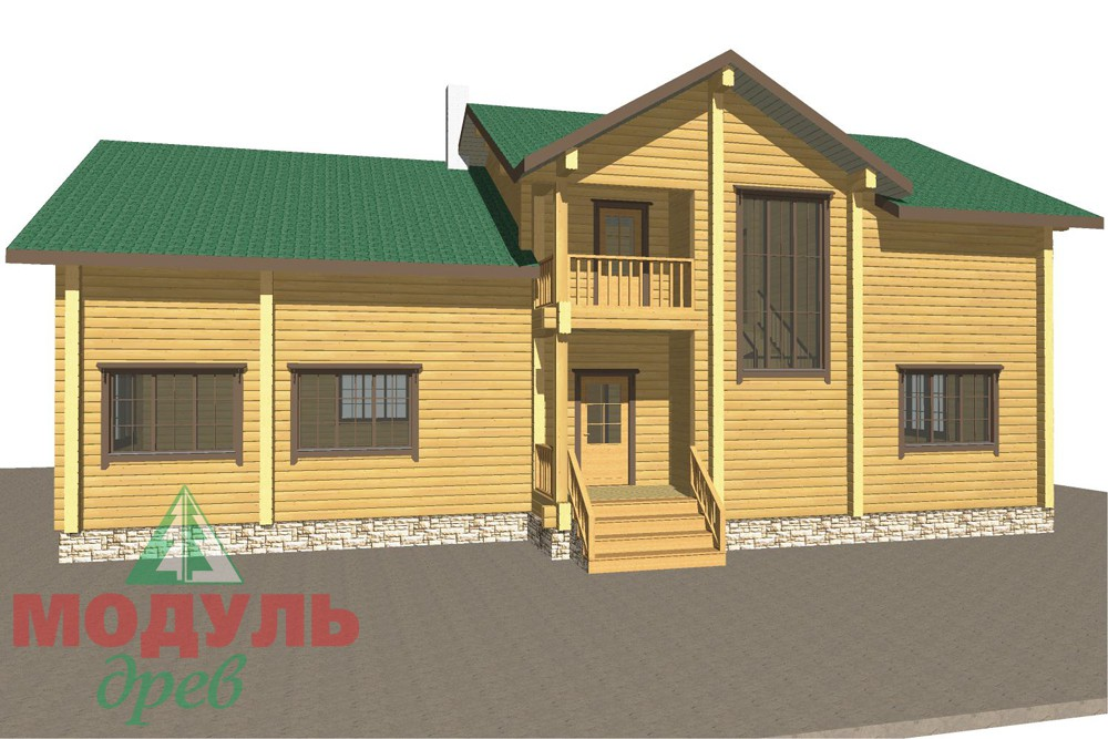 Проект дома из бруса «Кулой» - макет 1